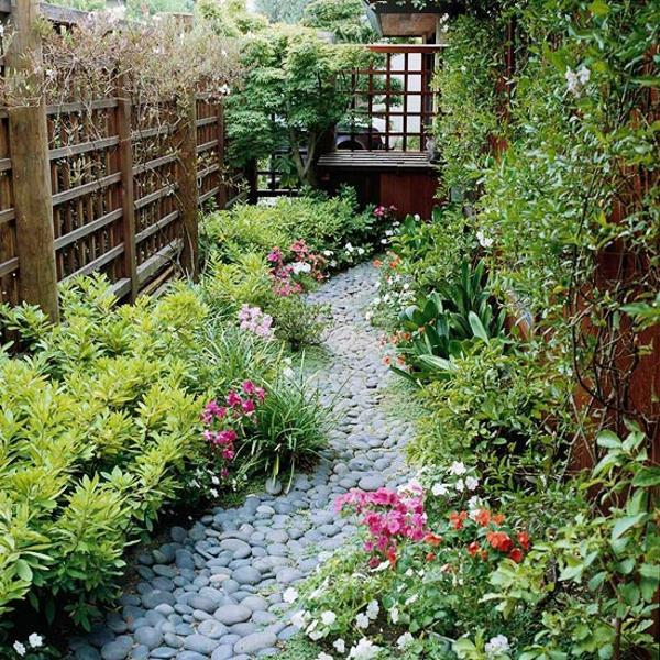 Beautiful Garden Path Designs and Ideas for Yard ... on Backyard Pebbles Design id=46245