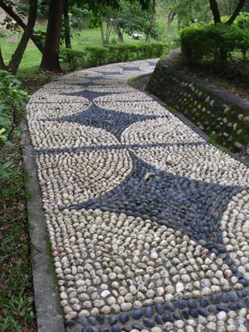 Beautiful Garden Path Designs and Ideas for Yard ... on Backyard Pebbles Design id=62063