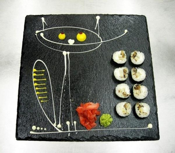 painting ideas for plates, food decoration and presentation