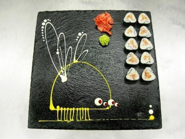 Hand Painted Sushi Plates for Creative Asian Party Table ...