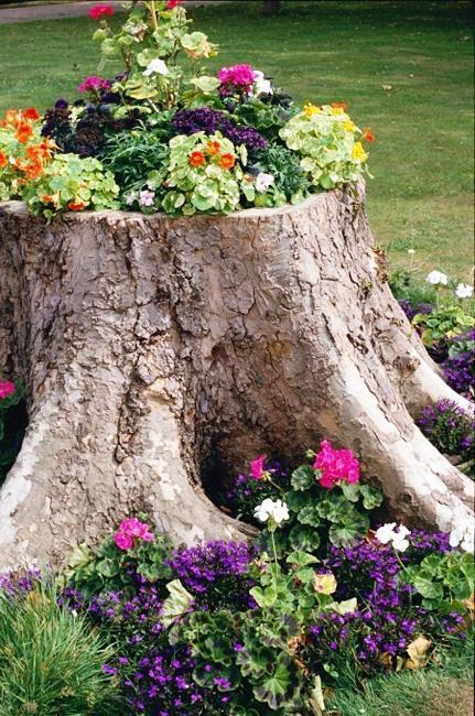 Outdoor Easter Decorations: Recycling Tree Stumps For Yard Decorations To Remove Tree