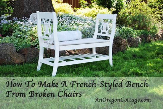 Using Two Chairs For Creating Handmade Wooden Benches
