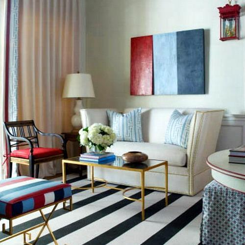 30 Patriotic Home Decoration Ideas In White Blue And Red Colors For