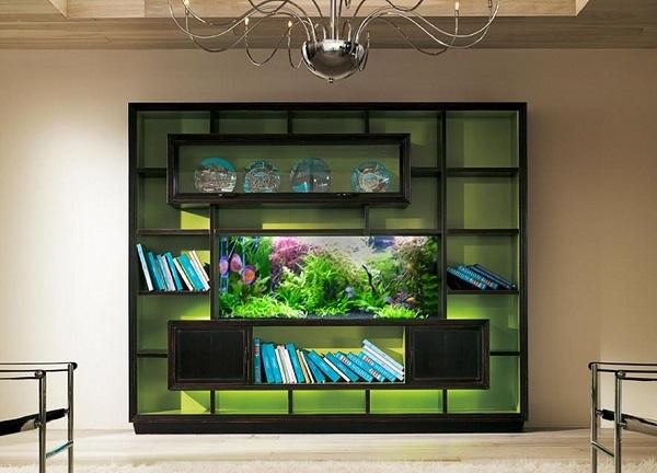 Unusual Built In Aquariums Adding Beautiful Green Ideas to Home ...