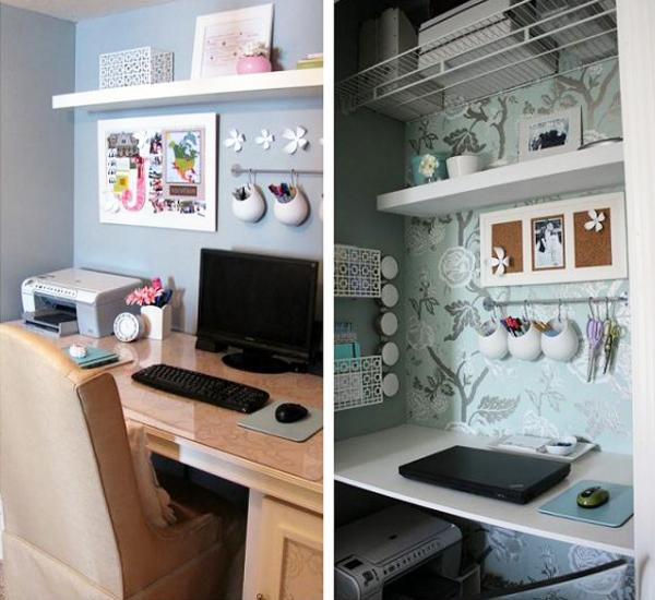 20 Home Office Cupboard Designs Ideas Plans: 22 Built In Home Office Designs Maximizing Small Spaces