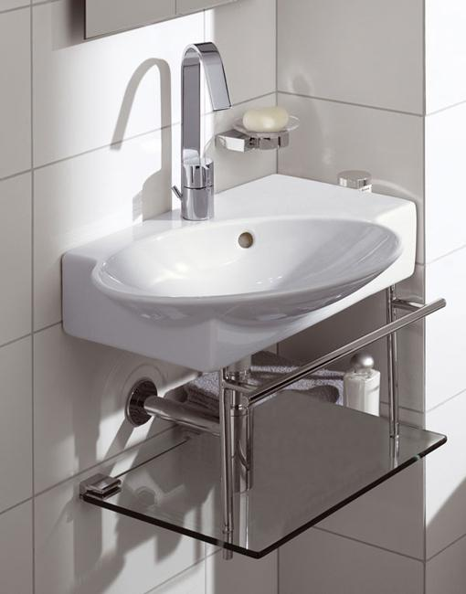 Corner bathroom sinks creating space saving modern bathroom design for Very small sinks for small bathroom