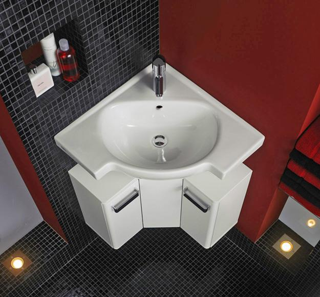 Corner Bathroom Sinks Creating Space Saving Modern ...