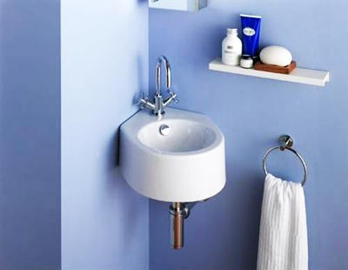 Exceptionnel Modern Small Bathroom Sink And Wall Shelf