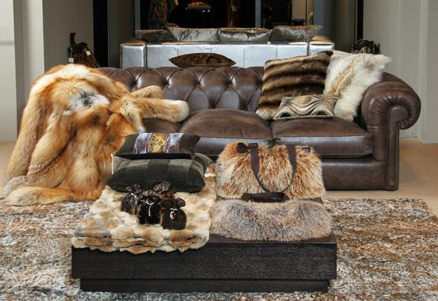 Modern Interior Design With Handmade Leather And Fur