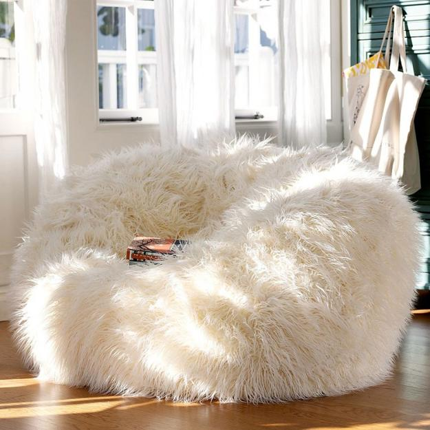handmade leather and fur accessories for modern interior design