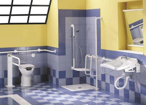 Handicapped friendly bathroom design ideas for disabled people for Bathroom for disabled plan