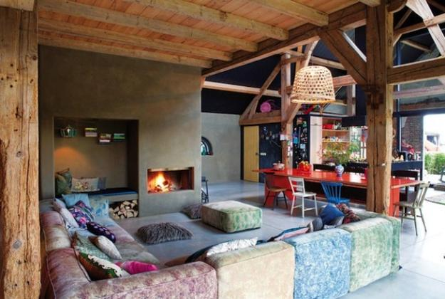 Colorful Interior Design In Eclectic Style Turned Old Farm