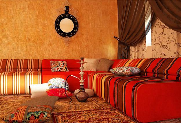 Bright Room Colors For Ethnic Interior Decorating In Central Asian And Middle Eastern Styles