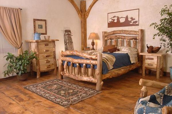Lodge Style Bedroom Furniture: Modern Log Furniture Adding Chic Eco Friendly Products To
