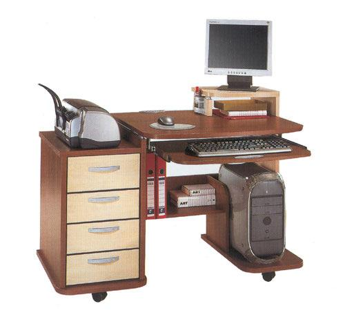 Home Office Design Tips To Stay Healthy: Modern Home Office Furniture On Wheels Allowing Flexible