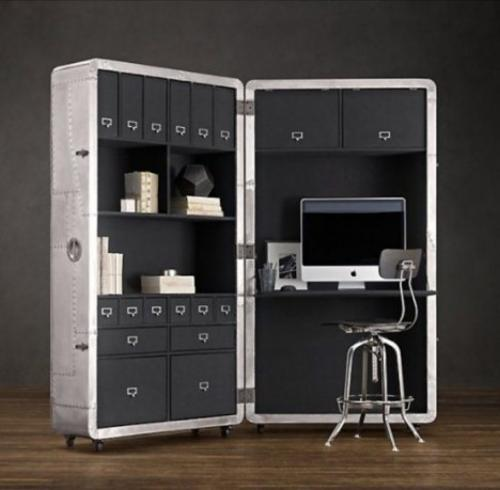 Interior Design Ideas For Home Office: Modern Home Office Furniture On Wheels Allowing Flexible