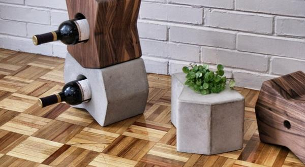 modular set of decor accessories turning into stools