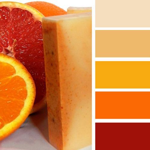 Warm Orange Color Scheme With Beige
