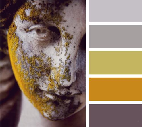 Rusty Orange And Gray Color Scheme For Room Decorating