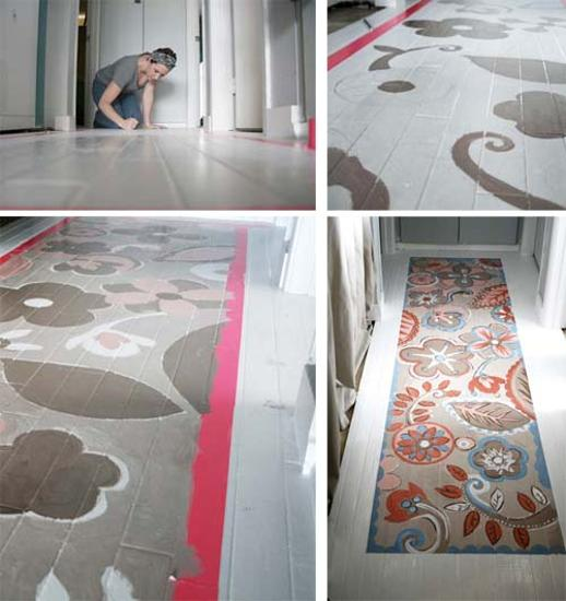 Painting Wooden Floors: Stencils And Creative Painting Ideas For Wood Floor Decoration