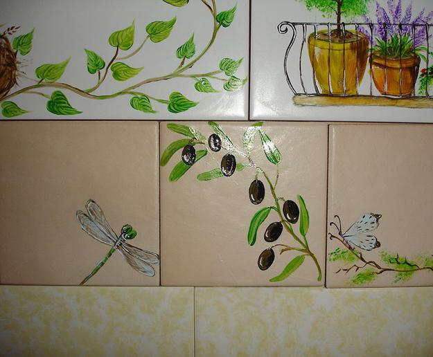 Painting Old Kitchen Tiles