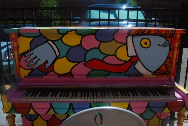 creative painting ideas   piano decorating  color  patterns