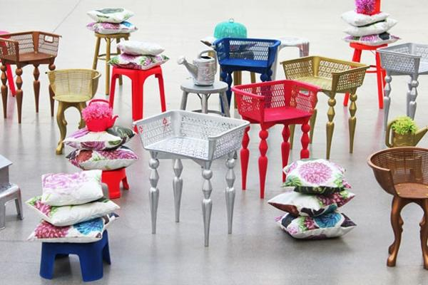 Plastic Recycling Ideas For Unique Chairs With Plastic