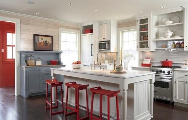 home decor in red colors, color trends, modern room colors