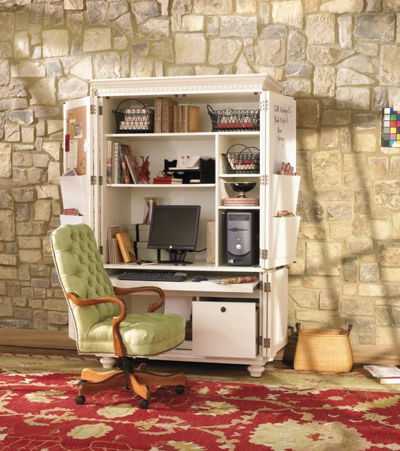 home office cabinets with computer desk and storage shelves