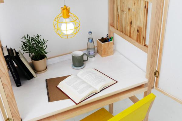 wooden furniture for small office in room