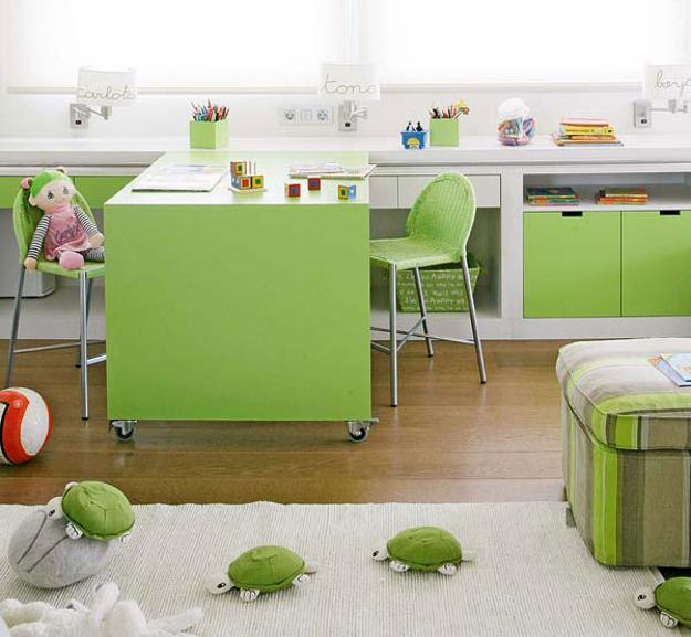 Student Desks Improving Functionality Of Modern Kids Room