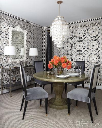 Unique Wall Decor Ideas In Black And White Dining Room Decorating