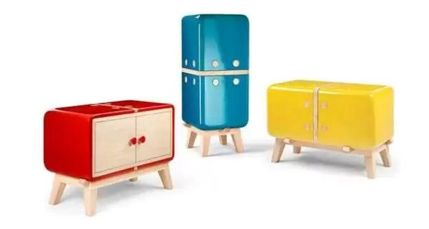 Wooden Furniture For Kids Adorned With Colorful Ceramic Tiles And Original Design