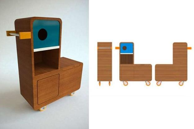 Kids Furniture For Storage In Vintage Style