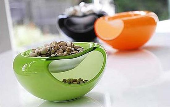 contemporary tableware in bright colors