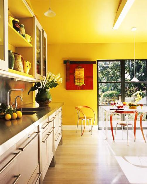 Dazzling Interior Design And Decorating Ideas Modern Yellow Color Combinations