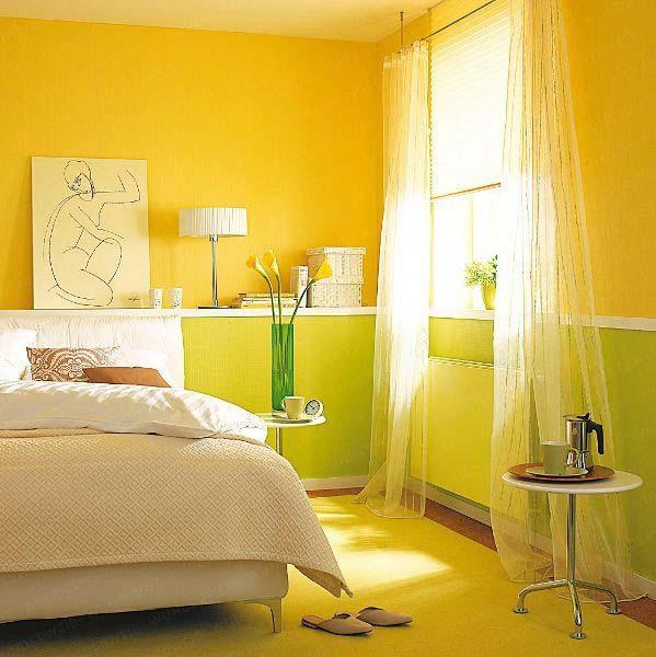 Painted Walls Colorful Room Design: 25 Dazzling Interior Design And Decorating Ideas, Modern