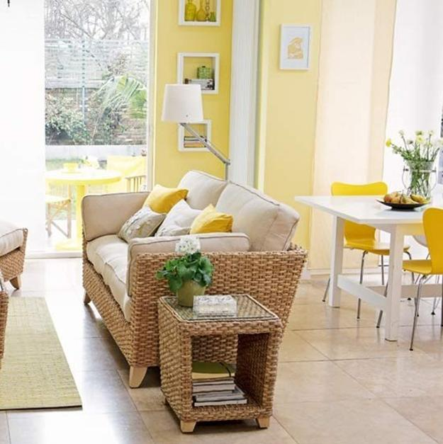 Color Home Interior Ideas: Soft Yellow And Pastel Green Colors, Modern Color Trends