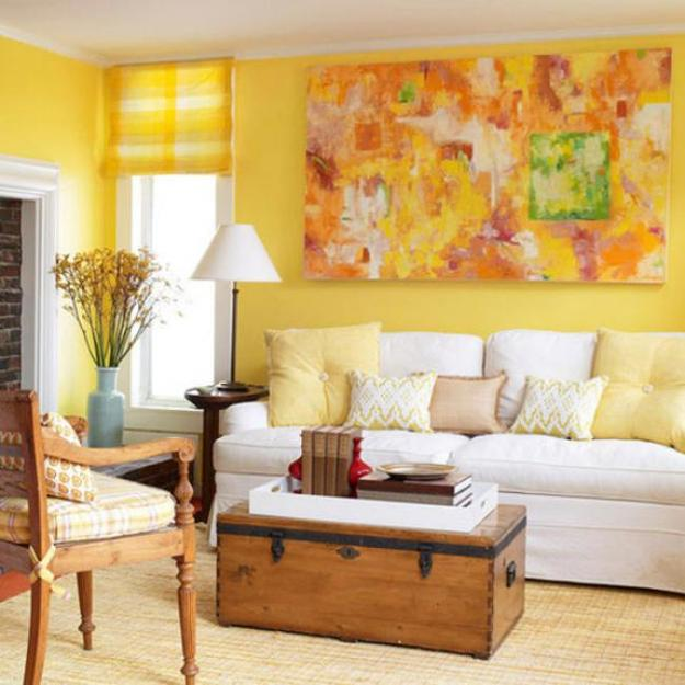 Decorating With Black White: Luminous Interior Design Ideas And Shining Yellow Color
