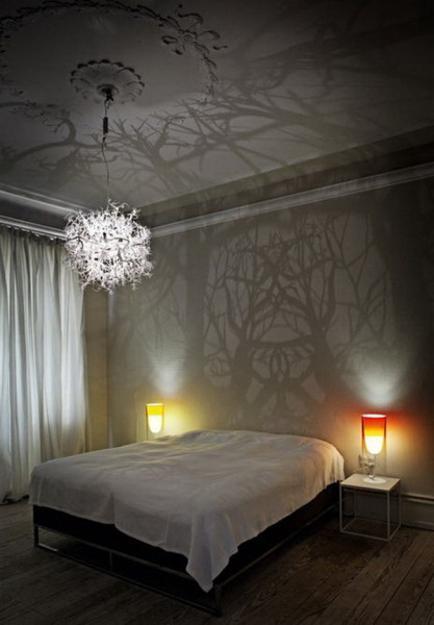 unique lighting design idea, twigs and roots chandelier