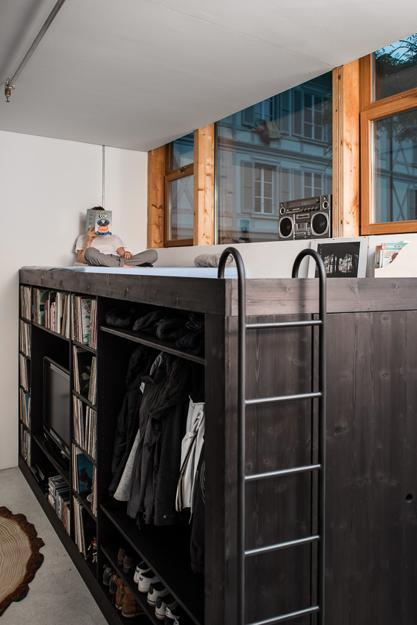 contemporary furniture for storage with guest bed