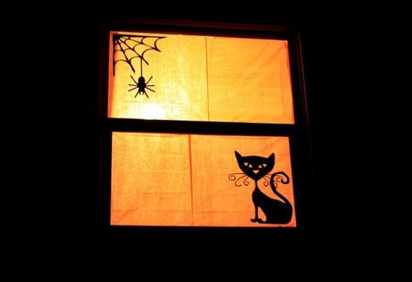 halloween window decorations 30 simple ideas for mysteriously glowing window 29704