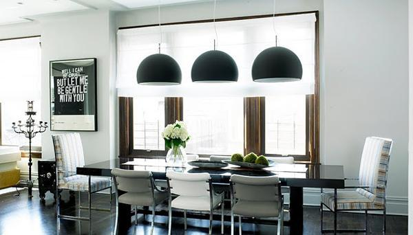 Ways to add black lamp shades and exclusive style to modern