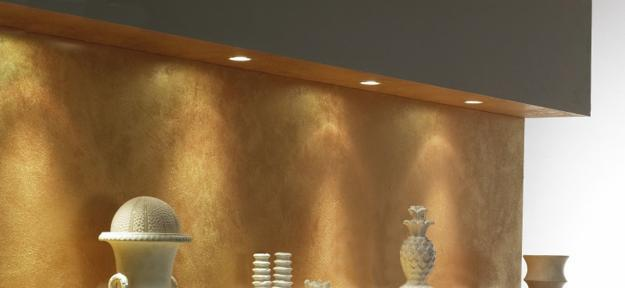 bronze finish and brown color for wall and ceiling