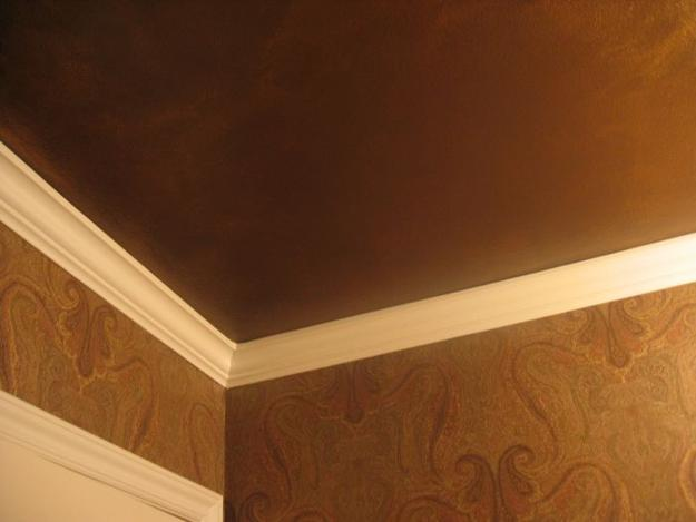 Modern Wall And Ceiling Designs Adding Bronze Color