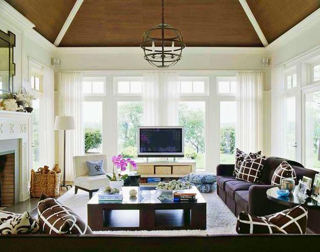 22 Modern Wall and Ceiling Designs Adding Bronze Color to Interior ...