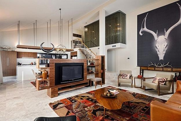 Chic Bohemian Interieur : Contemporary interior design with exotic bohemian touch