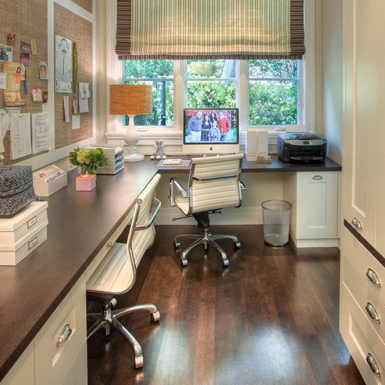 spacious room home offices designs ideas | 30 Corner Office Designs and Space Saving Furniture ...