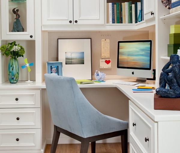 Small Home Office Room: 30 Corner Office Designs And Space Saving Furniture