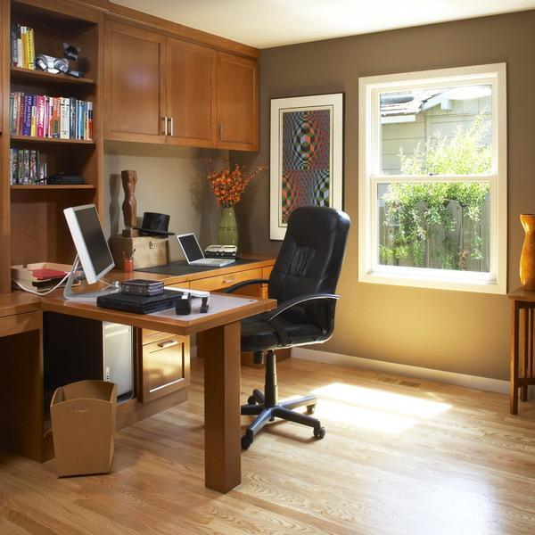 Contemporary Corner Office Design